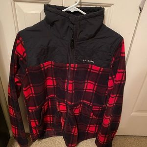 Plaid Columbia zip up!